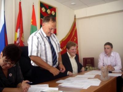 Приветствие председателя Собрания депутатов Троицкого муниципального района А. В. Корнеева